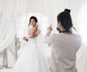 Bride posing for a photo