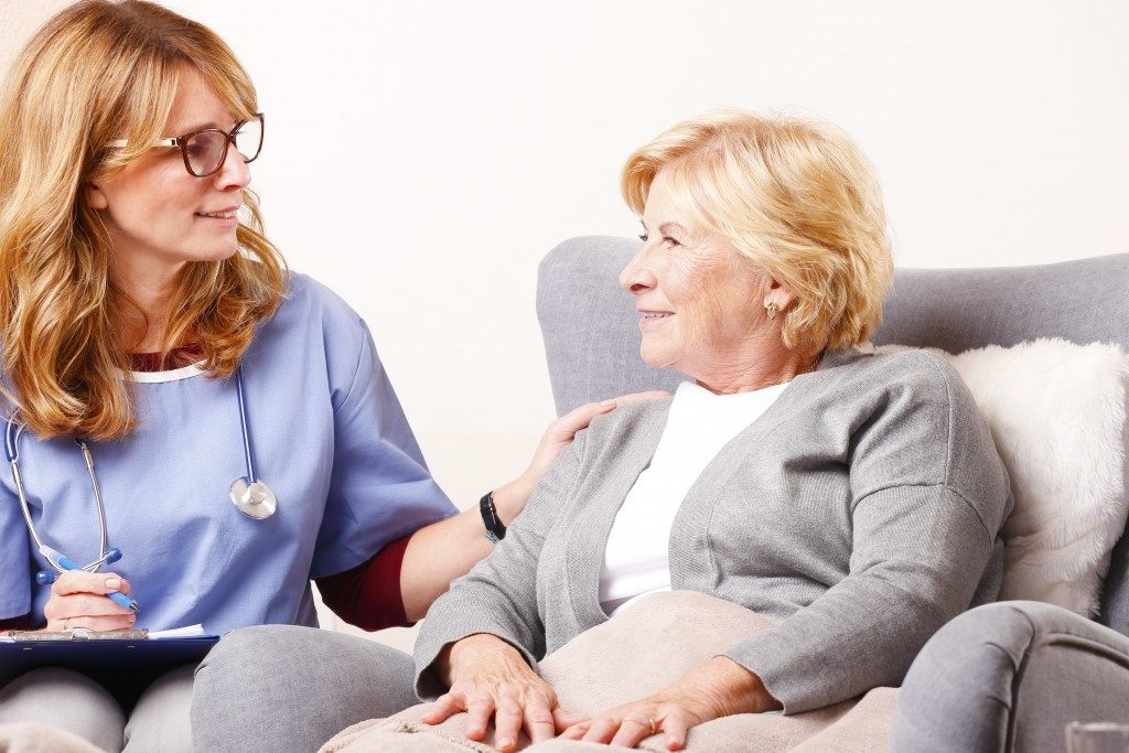 Senior woman consulting a doctor