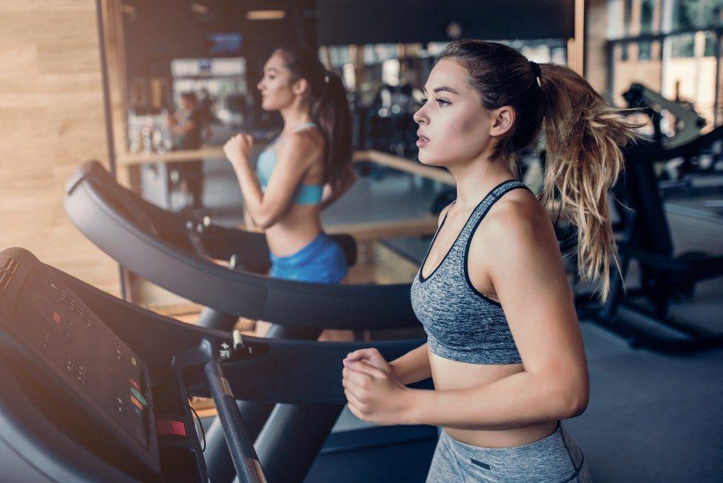 Women treadmill gym