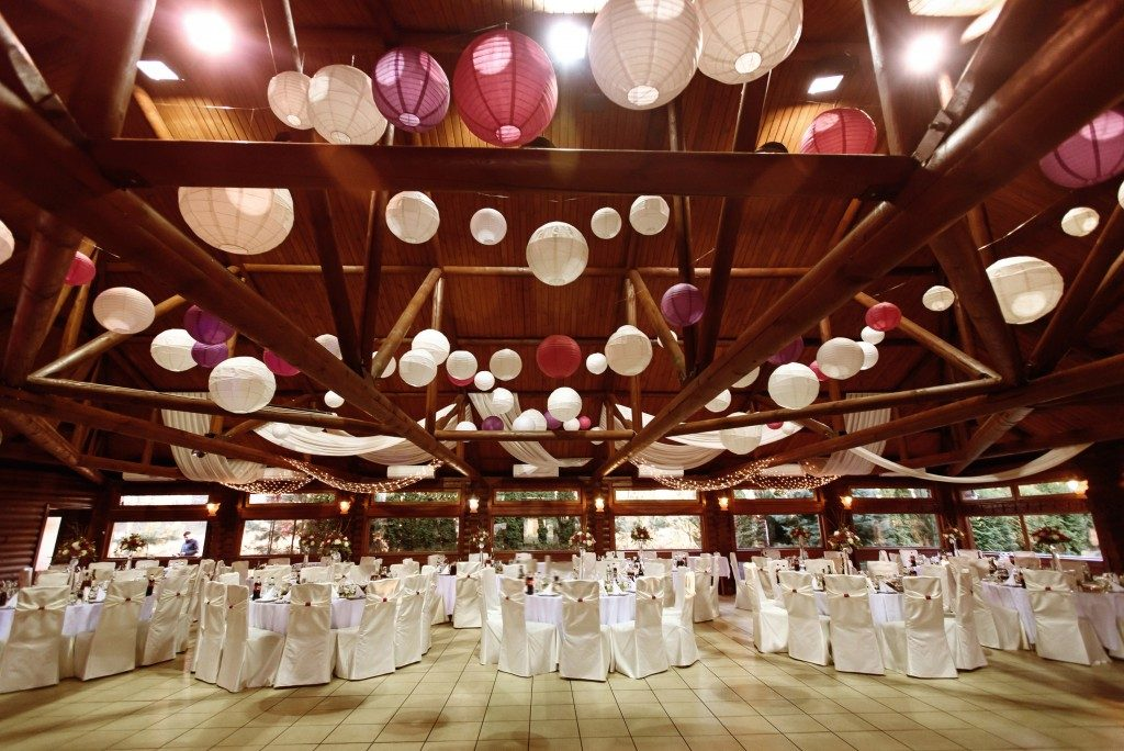Reception in a barn