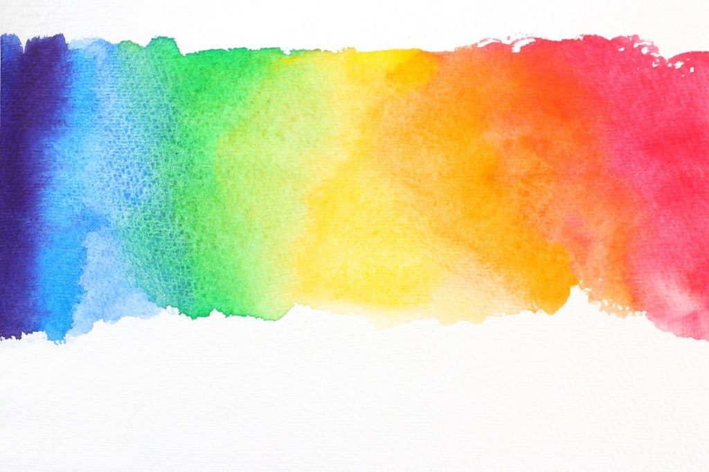 Rainbow watercolor paint