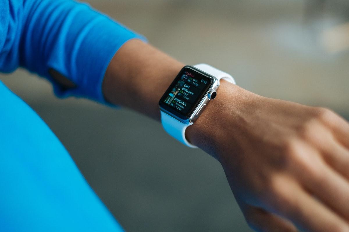 wearing smartwatch
